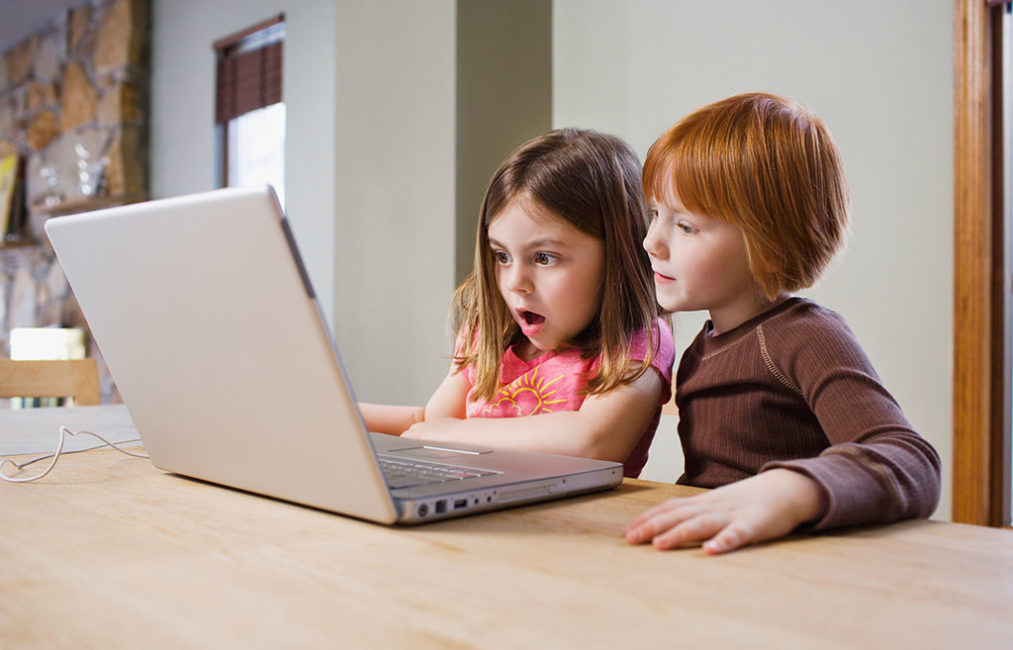 Future of Content Kids on Computer